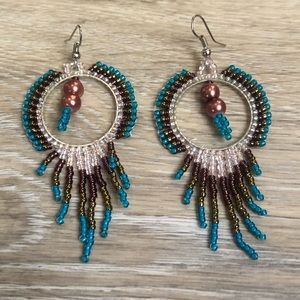 Gorgeous beaded fringe earrings